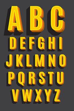 retro font sample